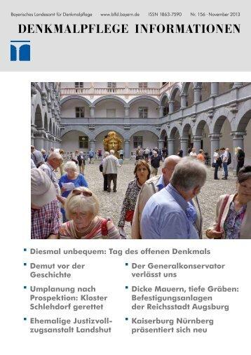 Denkmalpflege Informationen Nr. 156 (November 2013)