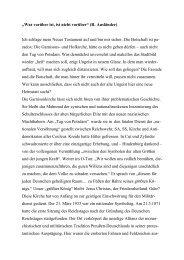 Zum Wiederaufbau der Garnisons- und Hofkirche Potsdam