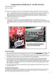 Programmatik und Politik der EL - Die DKP und die EL - Trend