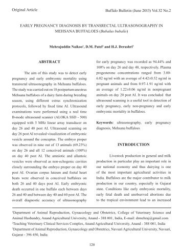 the abstract about early pregnancy
