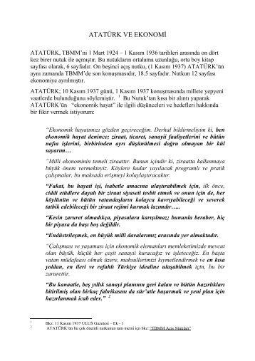 ATAÜRK VE EKONOMİ - Kemalizm 1938