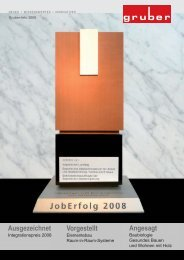 Firmen-Info 2009 - Gruber Innenausbau
