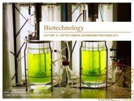 Biotechnology - Department of Chemical Engineering