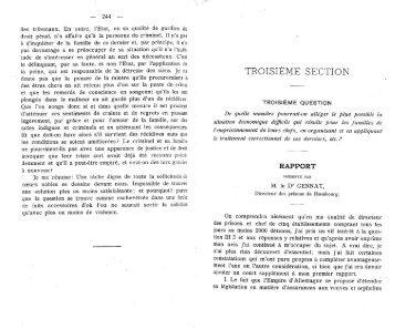 TROISIÈME SECTION