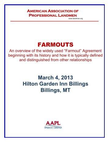 FARMOUTS - American Association of Professional Landmen