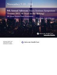 November 9-10, 2011 - advocate health care - Flight For Life