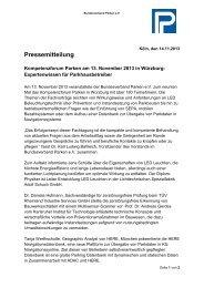 Pressemitteilung - Bundesverband Parken