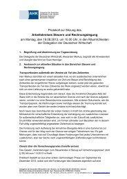 Protokoll zur Sitzung des Arbeitskreises Steuern und ...