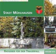 Ratgeber für den Trauerfall.pdf - Stadt Mühlhausen