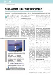 neue Aspekte in der muskelforschung - Deutsche Zeitschrift für ...