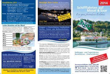Fahrplan Bereich Trier 2014 - Moselrundfahrten Gebrüder Kolb