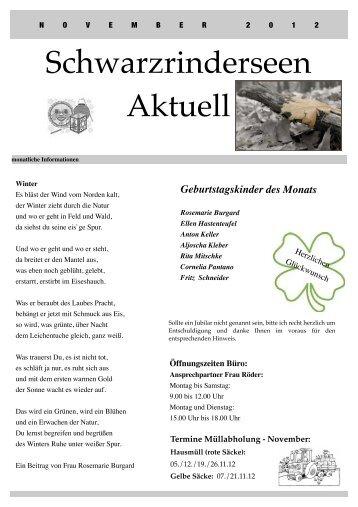 Ausgabe November 2012 - an den Schwarzrinderseen