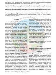 Ação in vitro de produtos químicos sobre Xanthomonas perforans e ...