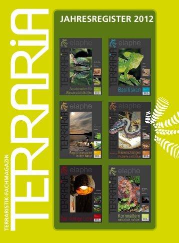 JAHRESREGISTER 2012 - Natur und Tier - Verlag GmbH