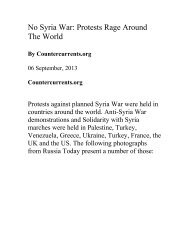 No Syria War: Protests Rage Around The World - Countercurrents.org