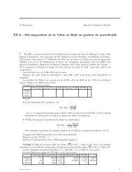 TD 6 - Décomposition de la Value at Risk en gestion de ... - Yats.com