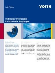 Technische Informationen: Hochelastische Kupplungen - Voith