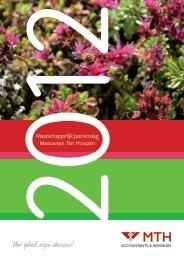 MVO jaarverslag 2012 - Meeuwsen Ten Hoopen
