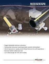 RITESCRAPE™ Electrofusion Scrapers for PE Pipe & Tubing
