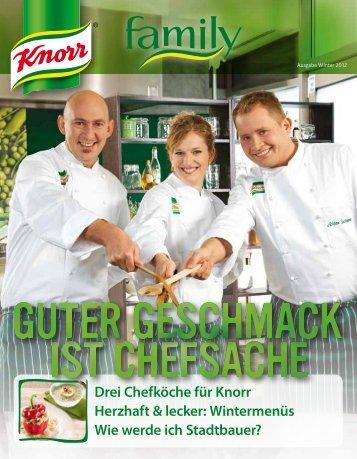 Drei Chefköche für Knorr Herzhaft & lecker: Wintermenüs ... - bei Knorr