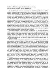 Barbara & Michael Leisgen - Forum für Kunst und Kultur ...
