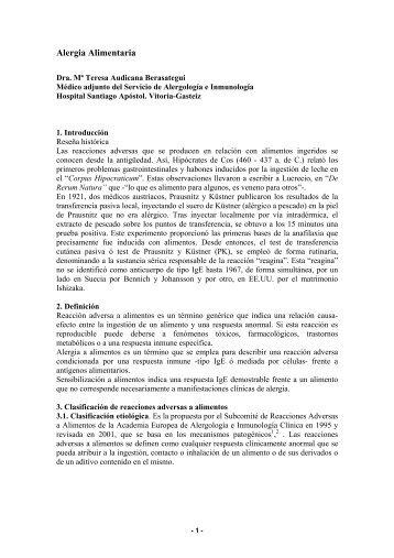 Alergia alimentaria y reacciones adversas a alimentos - Asociación ...