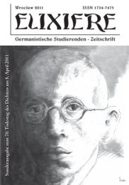 ELIXIERE Sondernummer MHN - Instytut Filologii Germańskiej