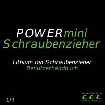 POWERmini driver - manual_German(130x130 ... - Cel-global.com