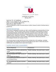 Syllabus - University of South Dakota