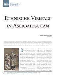 Ethnische Vielfalt in Aserbaidschan - Irs