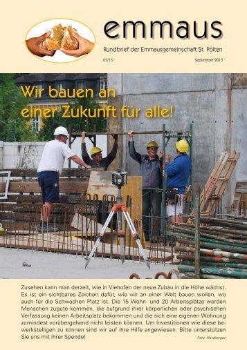 Rundbrief downloaden - Emmausgemeinschaft St. Pölten