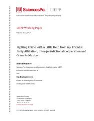 Fighting Crime with a Little Help from my Friends ... - Sciences Po