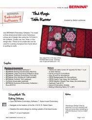 Tiled Magic Table Runner - Bernina