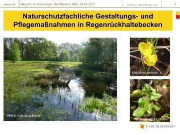 R. Becker: Naturschutzfachliche Gestaltungs