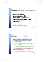 Comparaison économique de différentes formes de rotation en ...