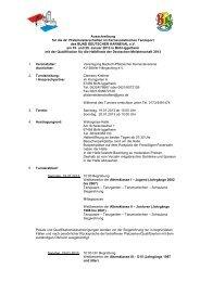 Ausschreibung für die 42. Pfalzmeisterschaften im Karnevalistischen ...