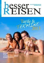 Tarife & TERMINE 2013 - besser REISEN