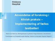 Anvendelse af forskning i klinisk praksis – Implementering af fælles ...