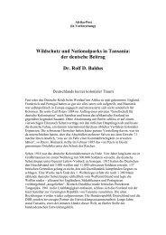 Wildschutz und Nationalparks in Tansania - wildlife-baldus.com