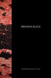 Breaking Black Exhibition, McMaster Museum of Art - Nicole Collins