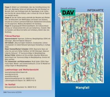 Infokarte Mangfallgebirge - Deutscher Alpenverein