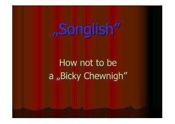 Shame_kivetített szöveg és példák - Songlish