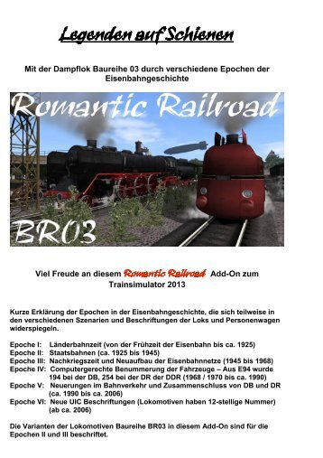 Legenden auf Schienen - Just Flight and Just Trains