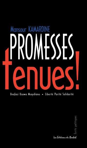 Promesses tenues !!! - Éditions du Baobab - Mayotte