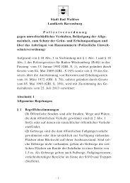 Polizeiverordnung - Stadt Bad Waldsee