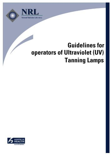 Guidelines for Operators of Ultraviolet (UV) Tanning Lamps