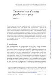 The incoherence of strong popular sovereignty - The University of ...