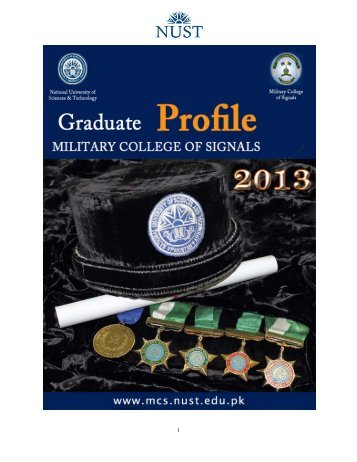 Graduate Profiles 2013 - National University of Sciences and ...