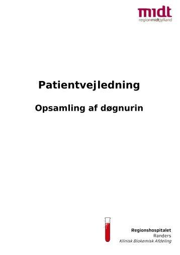 Patientvejledning, opsamling af døgnurin - Regionshospitalet Randers