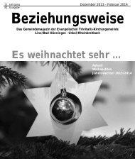 Dezember 2013 bis Februar 2014 - Evangelische Trinitatis ...